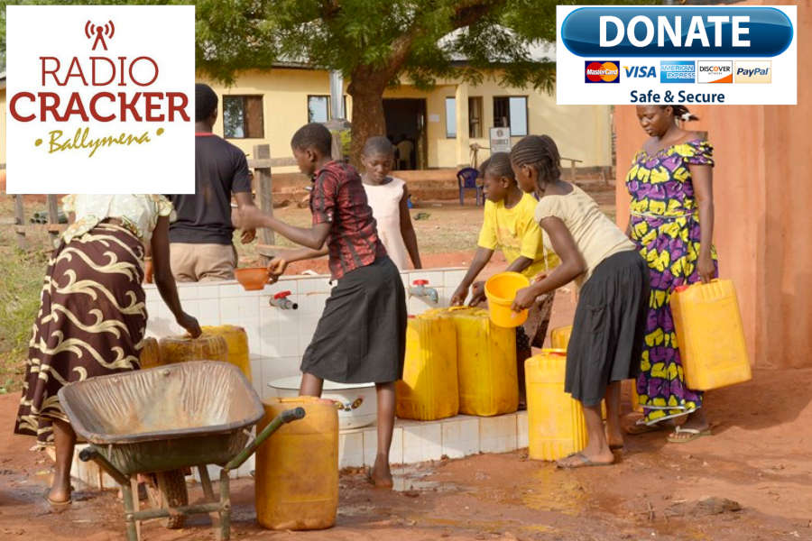 African ladies collecting clean water from a borehole